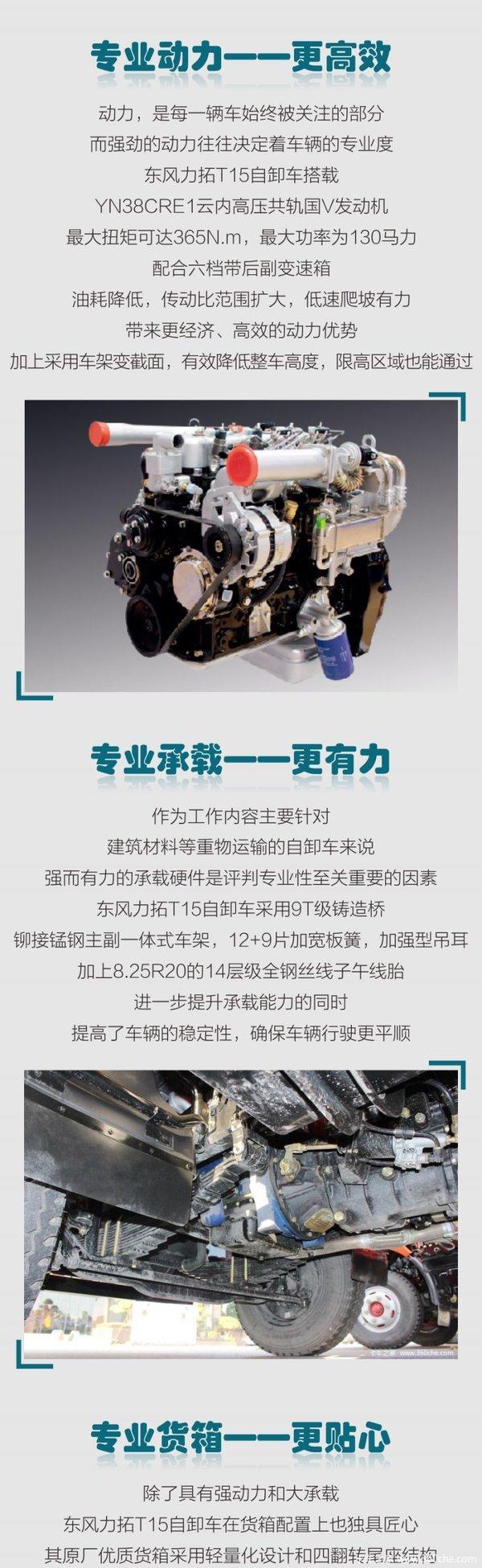 论专业,东风力拓t15自卸车从不认输