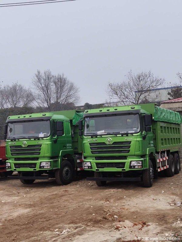 恭喜刘总、贾总 喜提德龙F3000绿皮渣土车