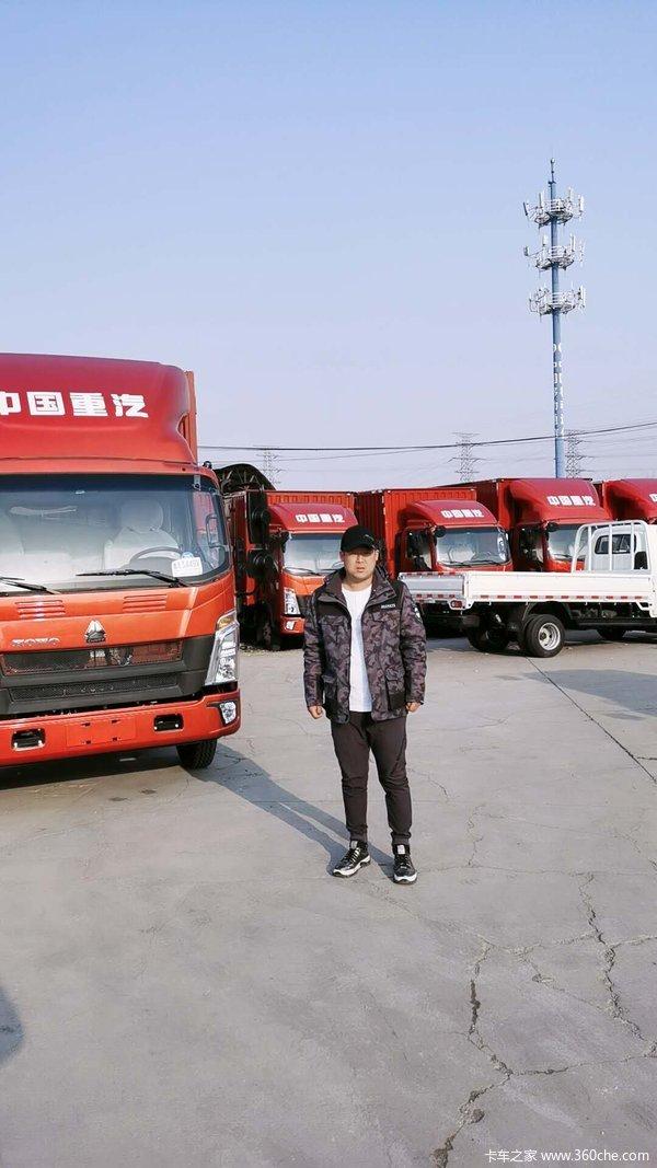恭喜北京好运达客户交车 喜提豪沃悍将