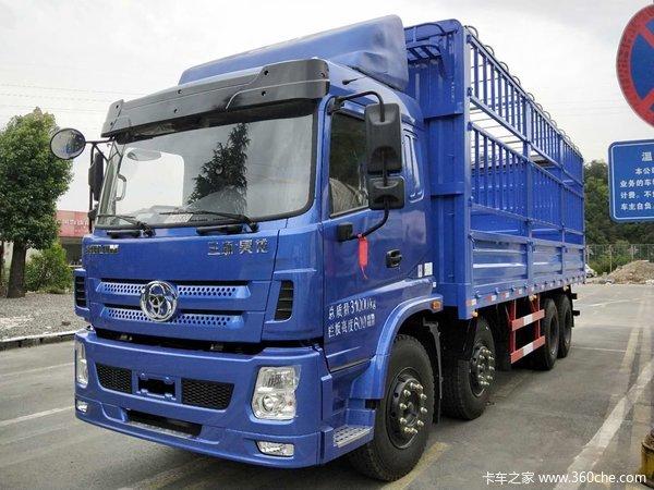 三环十通 昊龙 310马力 8X4 7.6米仓栅式载货车(STQ5312CCYB5)