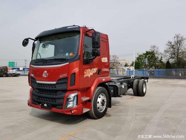 东风柳汽 新乘龙M3中卡 185马力 4X2 6.8米栏板载货车(LZ1180M3AB)