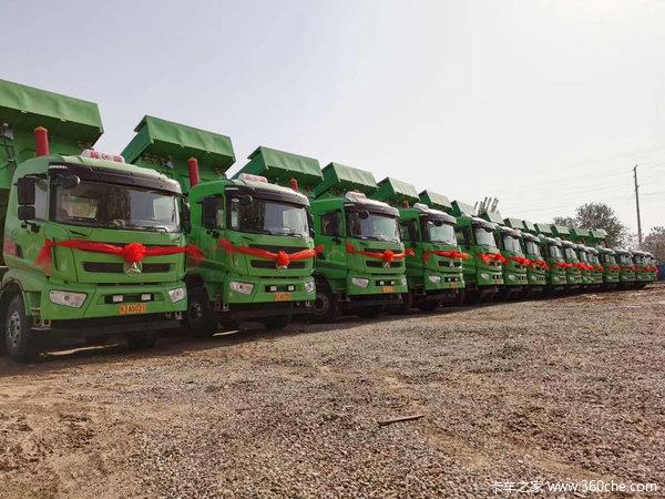 陕汽重卡 德龙新M3000 375马力 8X4 7.6米自卸车(法士特)(SX3310MB406)
