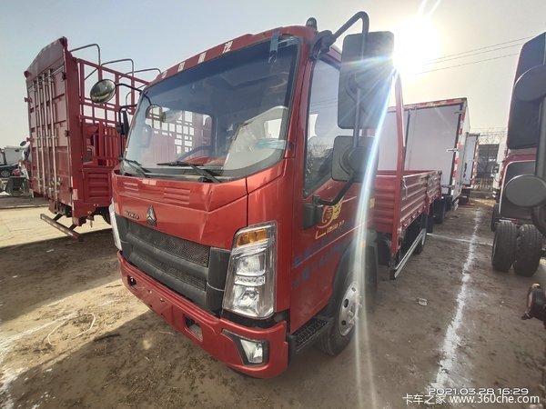 中国重汽HOWO 悍将 130马力 4.165米单排栏板轻卡(ZZ1047C3314E145-1)
