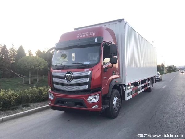 福田 欧航R系 230马力 8.1米厢式载货车(国六)(平顶)(BJ5186XXY-1A)