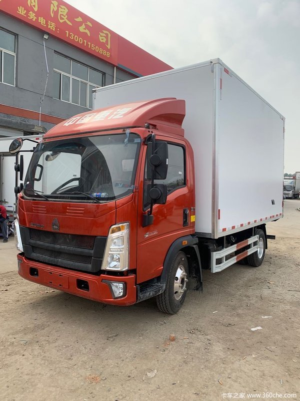 中国重汽HOWO 悍将 2019款 130马力 4.15米单排栏板轻卡(窄体)(ZZ1047F3314F145)