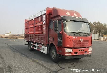 一汽解放 J6L中卡 180马力 4X2 6.8米LNG仓栅式载货车(CA5160CCYP62L4E1M5)
