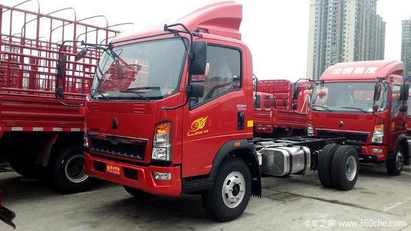 中国重汽HOWO 悍将 170马力 4.15米单排仓栅式轻卡(ZZ5047CCYG3415E143)