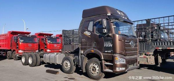 一汽解放 J6P重卡 重载型 460马力 8X4 9.5米栏板载货车(CA1310P66K24L7T4E5)