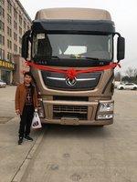 5台天龙旗舰KX牵引车成功交付客户