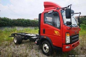 中国重汽HOWO 悍将 科技版 116马力 4.165米单排栏板