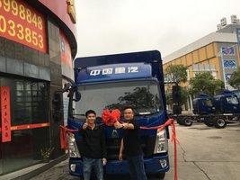 热烈祝贺5台悍将仓栅式载货车成功交付客户