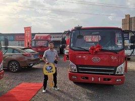 恭喜于师傅 喜提虎VN载货车1台,解放轻卡您赚钱的利器。