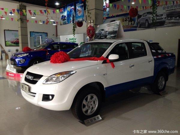 新车到店苏州江铃皮卡域虎仅售10.6万元