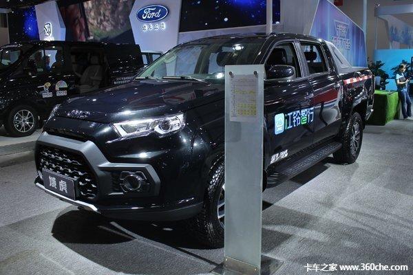 巅峰让利阳江江铃域虎皮卡售13.38万元