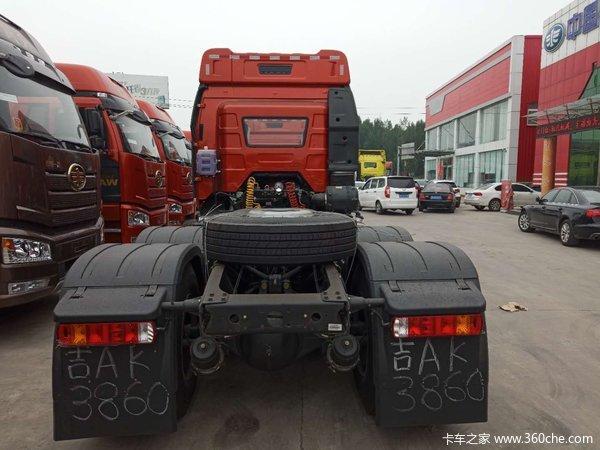 解放J6P420马力质惠版牵引车新车到店