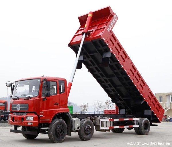 东风天锦7.6米平板自卸直降8仟