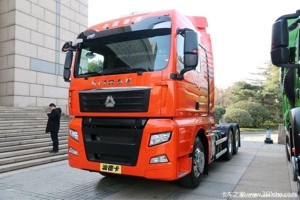 新车到店台州汕德卡牵引车仅售39.8万