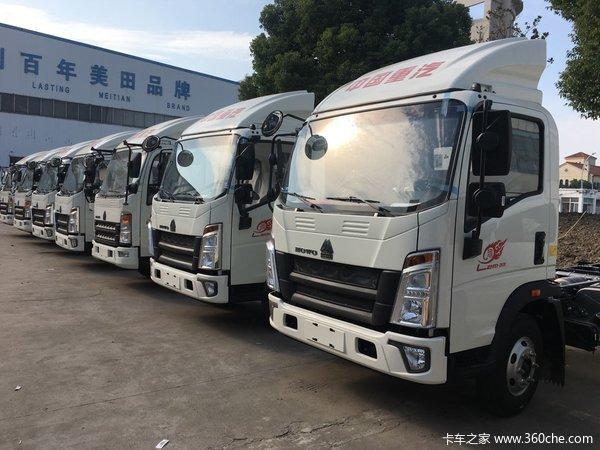可上蓝牌上海重汽HOWO轻卡仅售8.6万