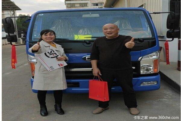 一次购车1台赣州市祥康自卸车交车仪式