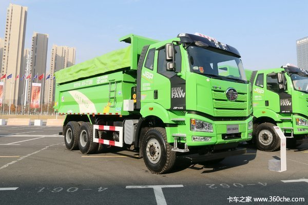 新车到店吉安解放J6P自卸车仅售40万起