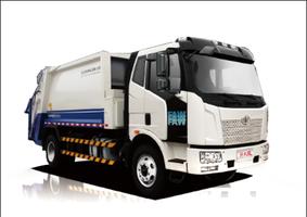 环卫新领航解放压缩式垃圾车