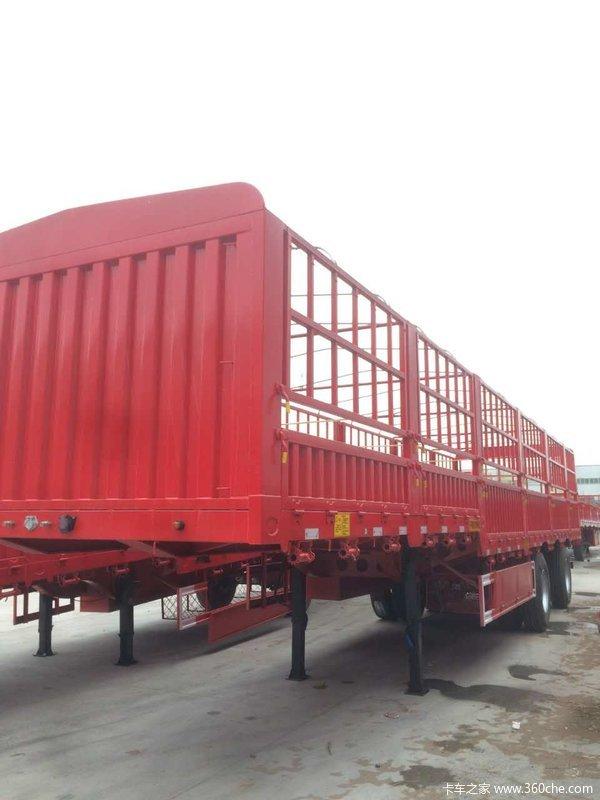 兰考平安13米2.55米(轻量化)鹅颈仓栏仓栅式半挂车图片