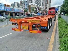 华海通汽车45尺2.5米宽轻量化集装箱运输半挂车集装箱式半挂车