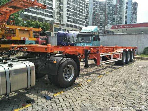 华海通汽车40英尺2.5米宽轻量化集装箱运输半挂车集装箱式半挂车图片