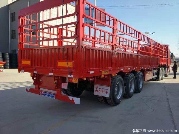 郓城骏宇十三米花栏2.55宽1.8高轻量化设计自重6.2仓栅式半挂车图片