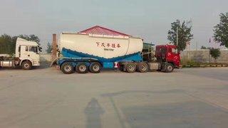 全新散装水泥罐车粉粒物料运输半挂车