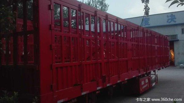 13米全锁杆对开高栏仓栅式半挂车图片