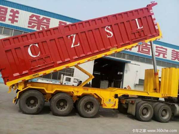 8.5-10.5平板自卸车自卸半挂车图片