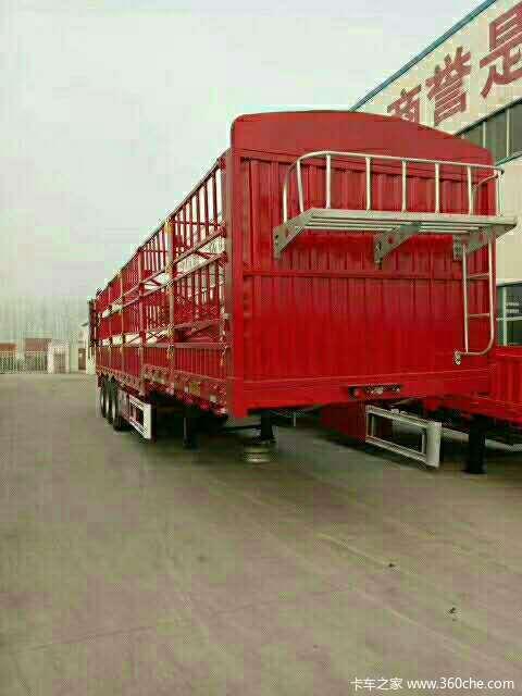 13米高栏订做出售仓栅式半挂车图片