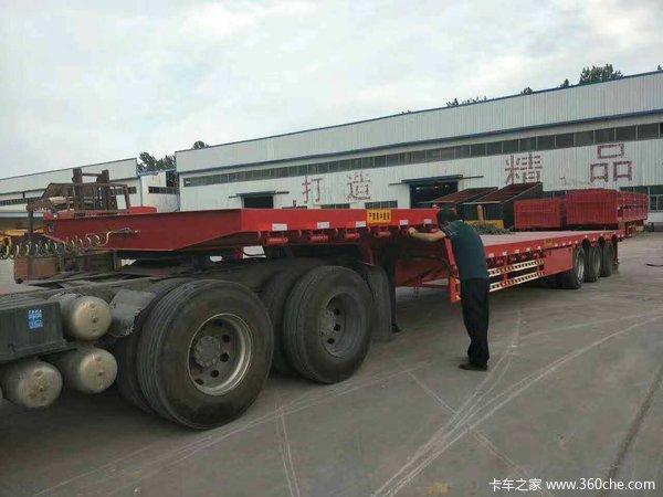 13米-13.75米高低平板,普货、大件专用平板式半挂车图片
