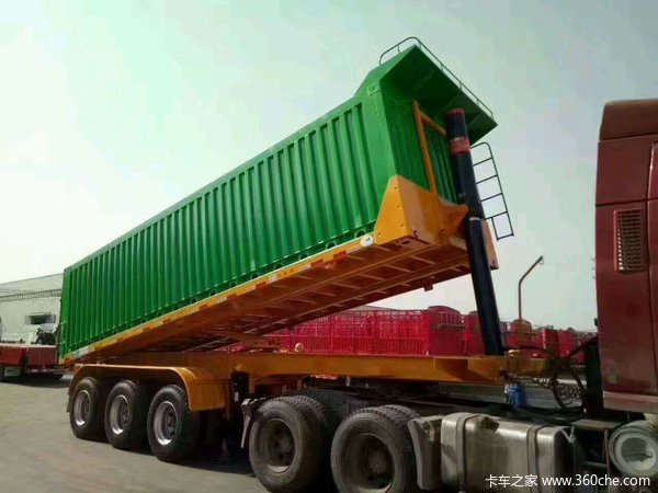 专业订做11米13米侧翻自卸车厂家直销自卸半挂车图片