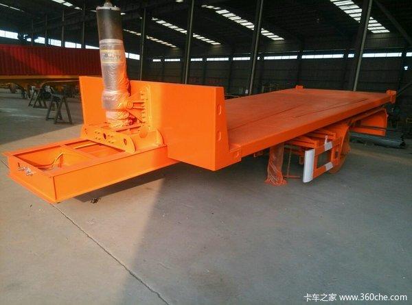 8米―11米平板后翻自卸车自卸半挂车图片