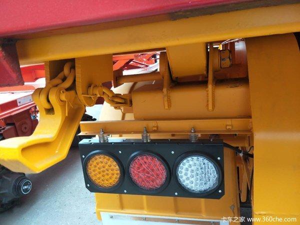 平板后翻箱车自卸半挂车图片