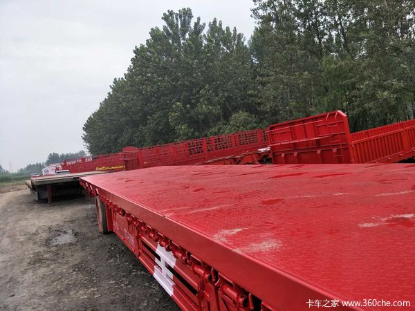 17.5米3米大板车低平板半挂车图片