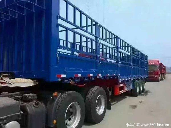 国标13米轻量化高栏仓栅式半挂车图片