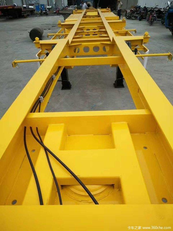 13.95米,轻量化集装箱骨架车骨架式集装箱半挂车图片