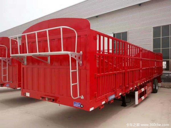 苍蓝车,自重5.8吨,承载普货55吨仓栅式半挂车图片