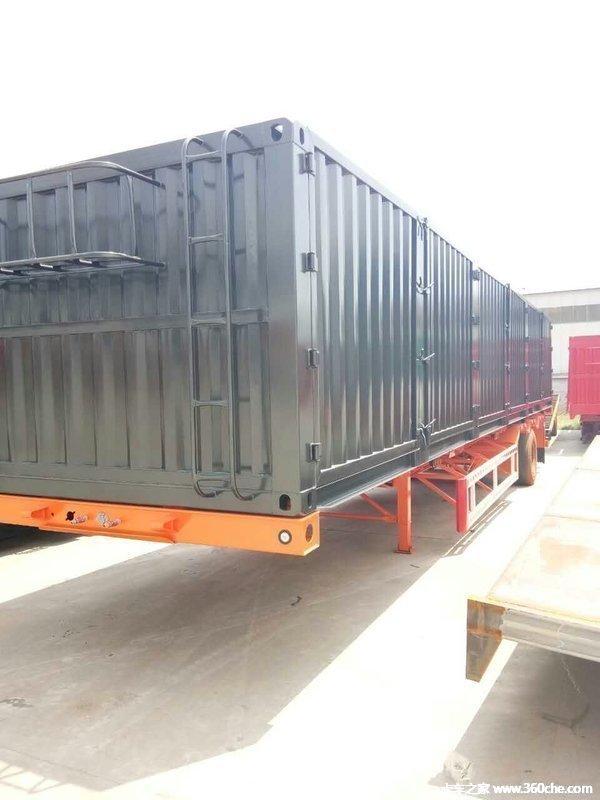 40英尺骨架集装箱式半挂骨架式集装箱半挂车图片