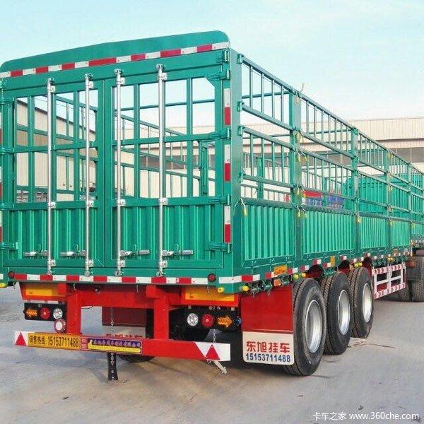 东旭挂车13米轻体花篮挂车宽度2米55整车自重6吨仓栅式半挂车图片
