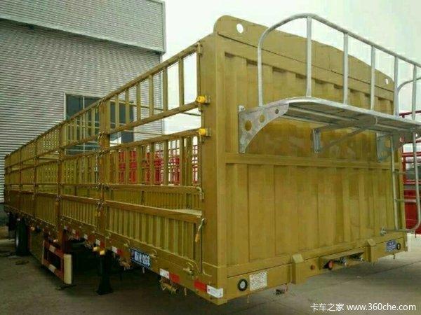 13米高低板高栏半挂车全车宝钢980钢材仓栅式半挂车图片