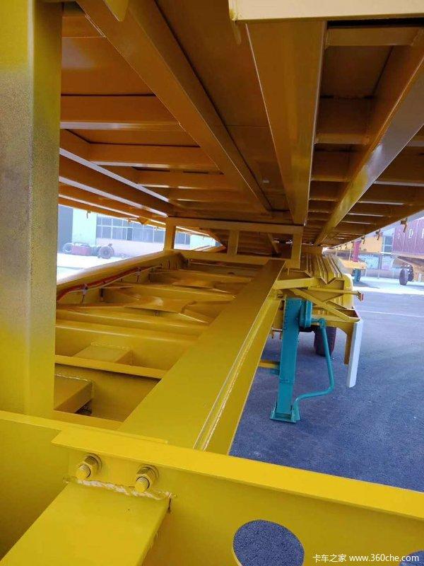 8.5米平板后翻自卸半挂车980钢材自卸半挂车图片