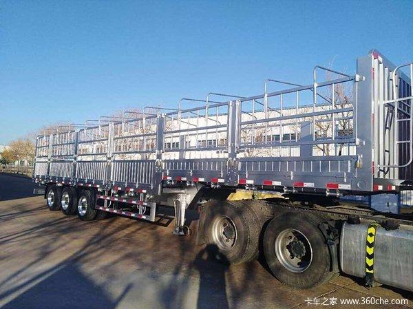 13米全铝合金挂车仓栅式半挂车图片