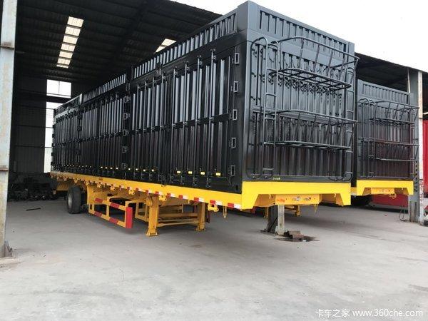 平板侧翻自卸半挂车长11米11米512米的高度不限能拉百吨自卸半挂车图片