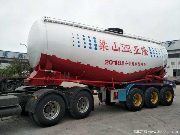 36立方自重仅5.5吨!超轻型散装水泥罐车,罐车专用合金高强耐磨钢制作罐式半挂车图片