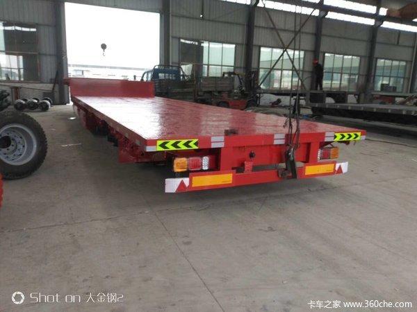 低平板13米75宽3米低平板半挂车图片