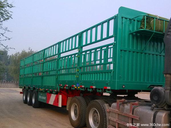 厂价直销轻型苍栏,自重5.8吨,全车高强保拉50吨仓栅式半挂车图片